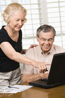 Elderly Persons on Computer