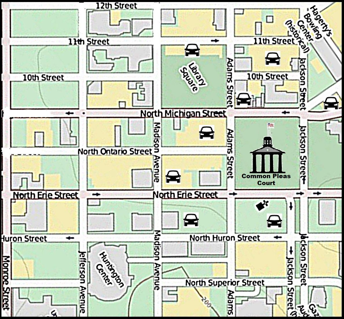 Court House Public Parking Map